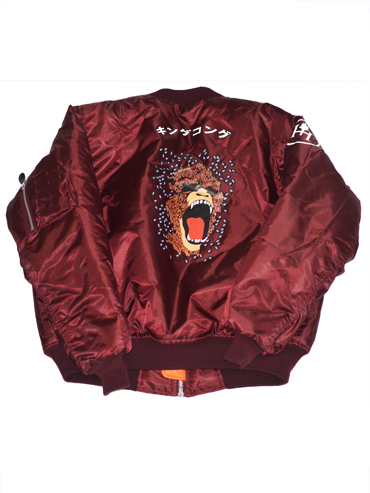 'Kong' Bomber Jacket in Wine
